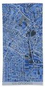 Los Angeles Map Retro 5 Bath Towel