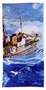 Lowestoft Trawler Bath Towel