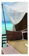 Luxury Of Maldives Bath Towel by Jenny Rainbow