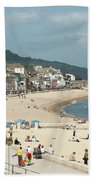 Lyme Regis Beach Bath Towel