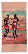 Maasai Dancers Bath Towel