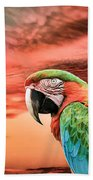 Macaw Parrot Hand Towel