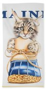 Maine Coon Kitten Hand Towel