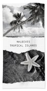 Maldives. Tropical Islands Poster Bath Towel by Jenny Rainbow