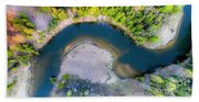 Manistee River Curve Aerial Hand Towel