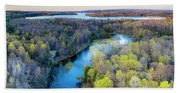 Manistee River Evening Aerial Hand Towel
