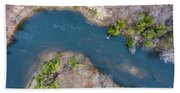 Manistee River From Above Hand Towel