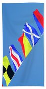 Maritime Signal Flags Bath Towel
