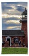 Mark Abbott Memorial Lighthouse And Santa Cruz Surfing Museum Bath Towel