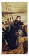 Mary, Queen Of Scots - The Farewell To France, 1867  Hand Towel