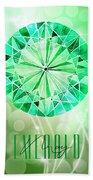 May Birthstone - Emerald Bath Towel