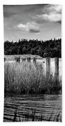 Mccormack's Beach Provincial Park, Black And White Hand Towel