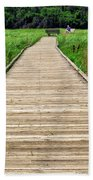 Boardwalk At Mccormack's Beach Provincial Park Hand Towel