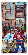 Mcgill University Roddick Gates Original Painting For Sale Hoockey Art C Spandau Canadian City Scene Bath Towel