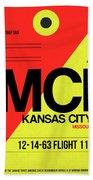 Mci Kansas City Luggage Tag I Bath Towel