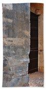 Medieval Castle Entrance In Algarve Bath Towel
