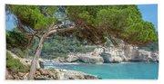 Mediterranean Landscape In Menorca Hand Towel