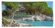 Mediterranean Landscape In Menorca Bath Towel