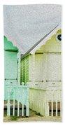 Mersea Island Beach Hut Oil Painting Look 5 Bath Towel