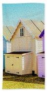 Mersea Island Beach Hut Oil Painting Look 6 Bath Towel