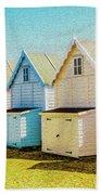 Mersea Island Beach Hut Oil Painting Look 9 Bath Towel