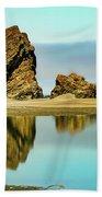 Meyers Beach Reflections - Oregon  Bath Towel