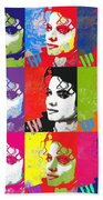Michael Jackson Andy Warhol Style Bath Towel