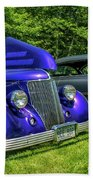 Mild Customs 1936 Ford And 1953 Chevy Bath Towel