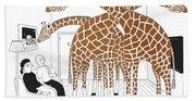 More Giraffes Bath Sheet