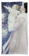 Mother And Child By Wilhelm List Bath Towel