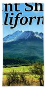 Mount Shasta California Hand Towel