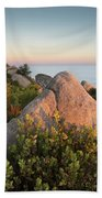 Mount Woodson Rock An Clouds Hand Towel