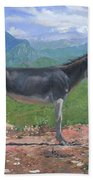 Mountain Donkey  Bath Towel
