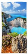 Navagio Bay Bath Towel