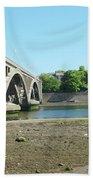 new road bridge across river Tweed at Berwick-upon-tweed Bath Towel