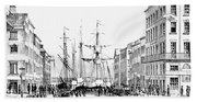 New York Docks, 1856 Bath Towel