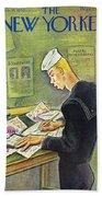 New Yorker February 14th 1942 Bath Sheet
