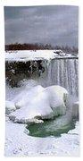 Niagara Falls Late Winter Bath Towel