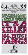 No06 My Silly Quote Poster Bath Towel