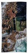 North Curl Curl Headland And Pool Bath Towel by Chris Cousins