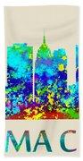 Oklahoma City Watercolor Bath Towel