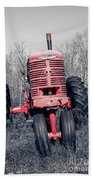 Old Farmall Farm Tractor Color Separation Nh Hand Towel