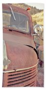 Old Friends Two Rusty Vintage Cars Jerome Arizona Hand Towel