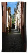 old historic lane in Cochem Germany Bath Towel