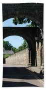 old historic town gate in Hexham Bath Towel