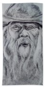 Old Man In A Hat  Hand Towel