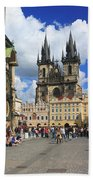 Old Town Square Prague Czech Republic  Bath Towel