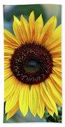 One Bright Sunflower Bath Towel