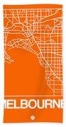 Orange Map Of Melbourne Bath Towel
