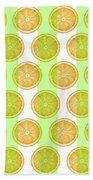 Orange Slice Pattern 2 - Tropical Pattern - Tropical Print - Lemon - Orange - Fruit - Tangerine Bath Towel